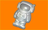 Пластиковая форма для мыла космонавт