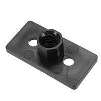 3 штук T8 8mm Lead 2mm Pitch T Thread POM Черная пластиковая гайка Пластина для 3D-принтера