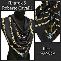 Платок S Брендовый Roberto Cavalli шелк цв.темно синий