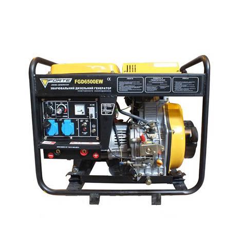 Дизельний зварювальний генератор Forte FGD 6500EW з стартером, фото 2