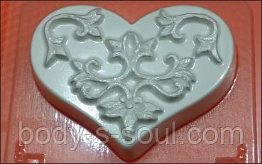 Пластиковая Форма для мыла - Сердце Узор