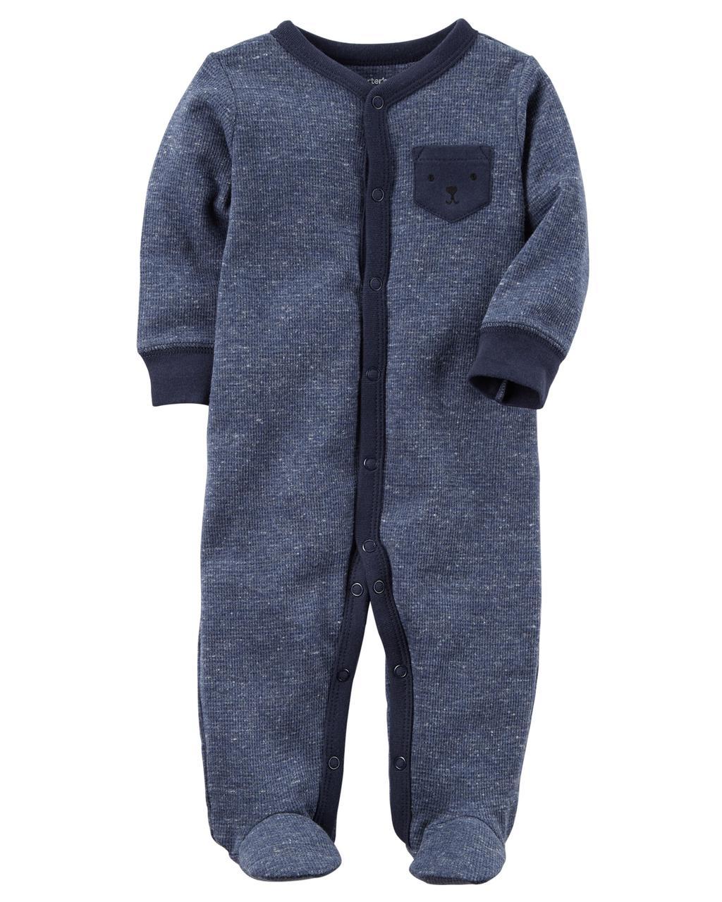 Человечек хлопковый теплый Carters для новорожденного мальчика до 55 см