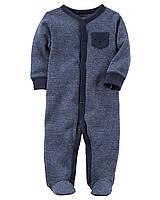 Человечек хлопковый теплый Carters для мальчика 3 мес 55-61 см