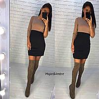Стильное женское платье С, М +большие размеры