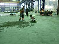 Установка напрямних і прийом бетонної суміші з затиранням верхнього шару без бетононасосу (чистова підлога)