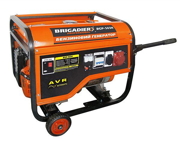 Бензиновый генератор Brigadier Professional BGP-503H (5.0 кВт), 3-х фазный