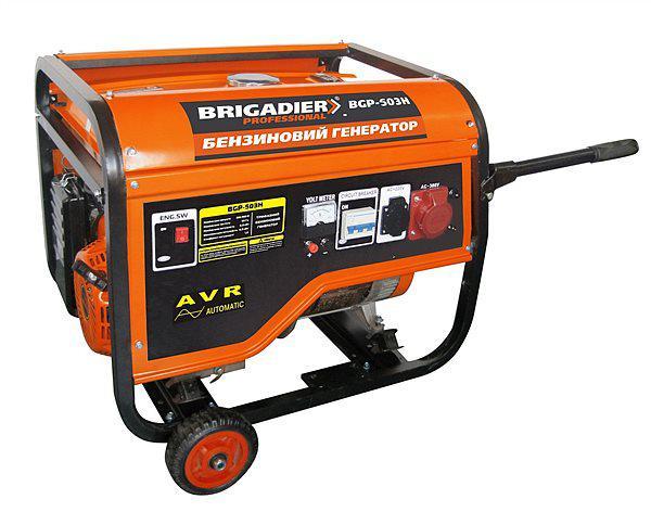 Бензиновый генератор Brigadier Professional BGP-503E (5.0 кВт), 3-х фазный