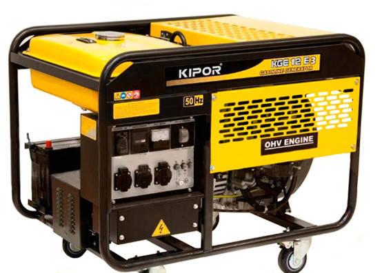 Бензиновый генератор Kipor KGE12E3 (8,5 кВт, трехфазный), фото 2