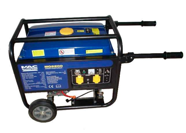 Бензиновый генератор MacAllister MG 5200 (5,0-5,2 кВт), фото 2