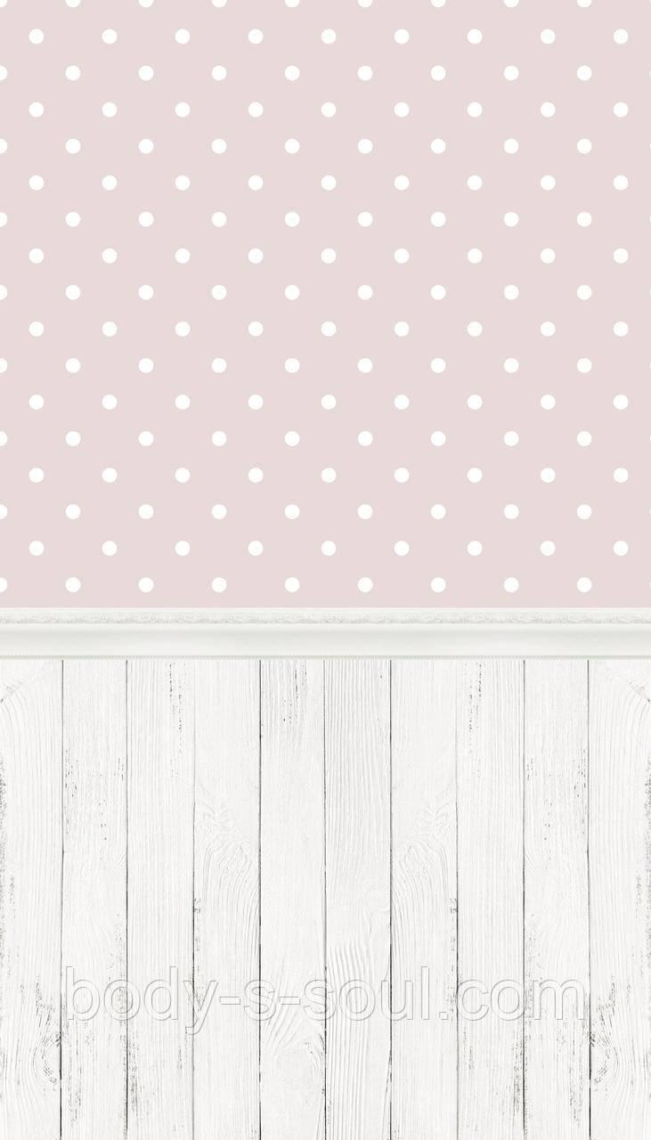 Фотофон двойной  виниловый, розовый горох 1003