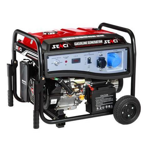 Бензиновый генератор SENCI SC10000-EI (7,5-8,5 кВт) эл.с., пульт, фото 2