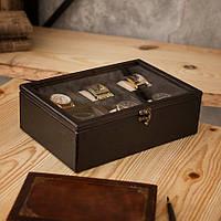 Деревянная шкатулка для хранения часов Hetch DSV001 - Venge на 6 отделений