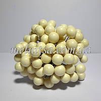 Ягоды для декора, калина , 1-1,2 см,  цвет белый , 50 шт