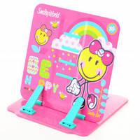 Подставка для книг цветная металлическая Smiley World pink 470421