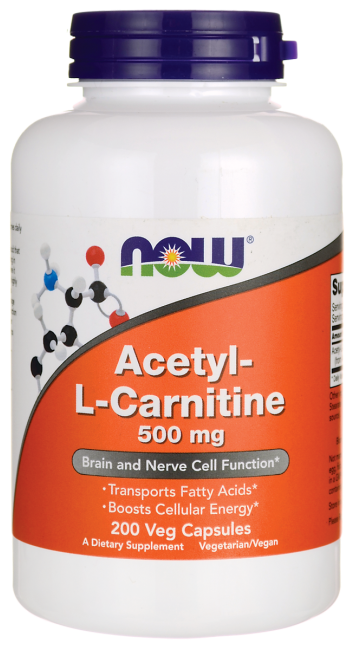 Жиросжигатель NOW Acetyl-L-Carnitine 500 200 veg caps