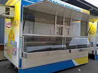 Торговый прицеп с холодильными витринами