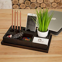 Деревянный органайзер для канцелярии Waid DWV095 - Venge в офис