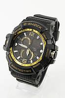 Мужские спортивные наручные часы (черные + золотые), фото 1