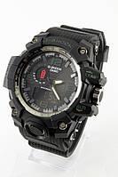 Мужские спортивные наручные часы (черные + зеленые), фото 1
