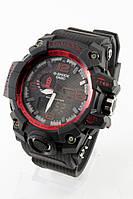 Мужские спортивные наручные часы (черные + красные)