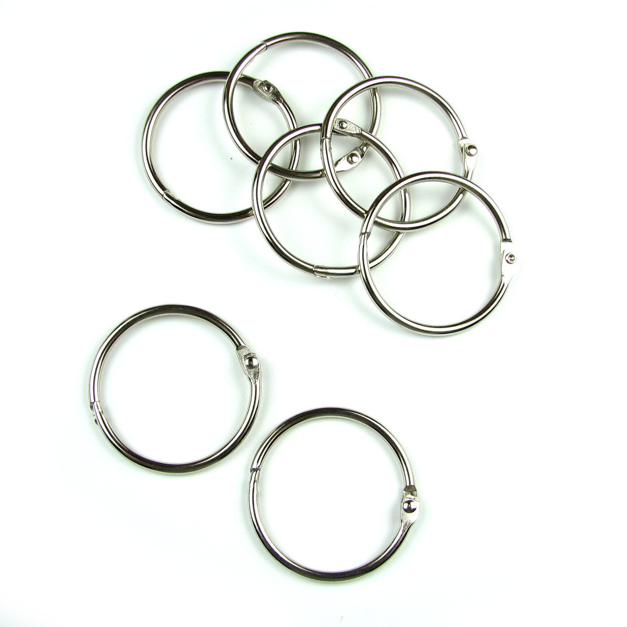 Кольца для альбомов, серебро 45мм 2шт в наборе