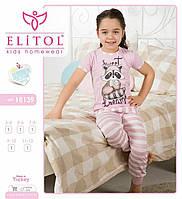Детская пижама для девочки 3-12 лет футболка со штанами ТМ Elitol  производства Турции 9ab674d6b43ee