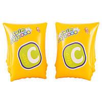 Детские надувные нарукавники Bestway 32033  желтые,25-15см,возд камеры 2шт,3-6лет,в кор-ке,19-12-3см