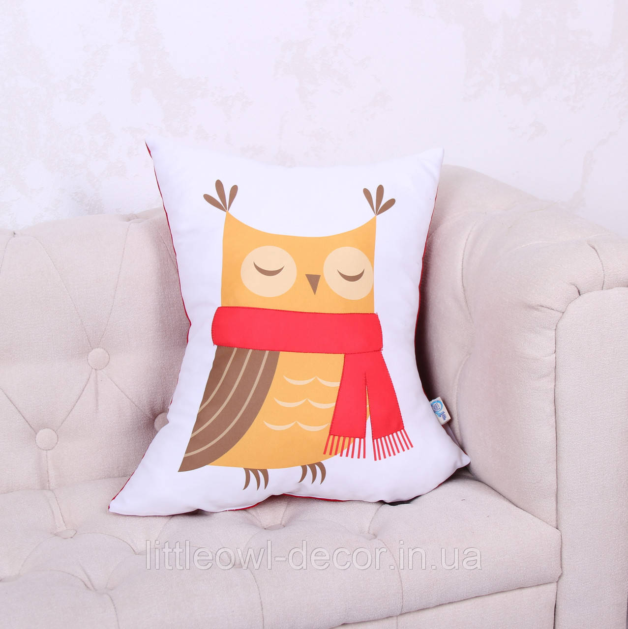 Подушка Сова в шарфе
