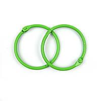 Кольца для альбомов, зеленые 40мм 2шт в наборе
