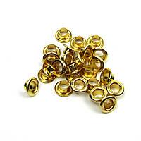 Люверсы Блочки для рукоделия 4мм золото  25шт в наборе