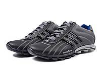 Кроссовки Adidas адидас мужские кожаные серые 40, 41, 42, 43, 44, 45 р