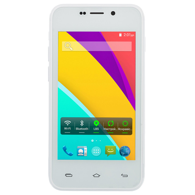 Смартфон Bravis Light 4Gb White GPS