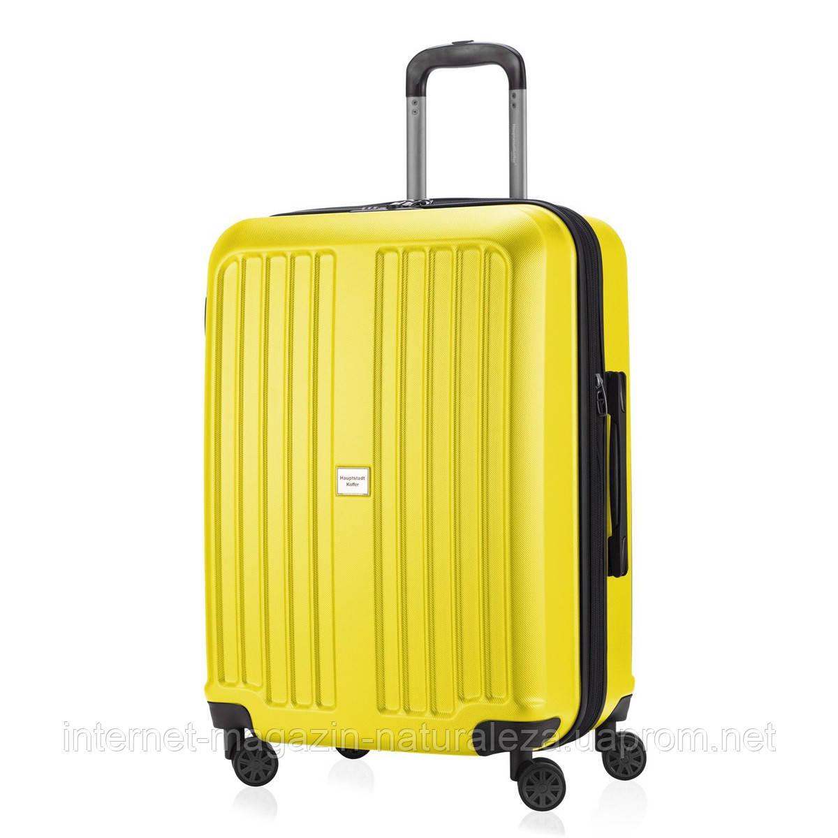 Чемоданы дорожные Hauptstadtkoffer Xberg maxi желтый матовый