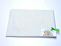 Ситцевая  пеленка (белая в бежевый горошек) 75х120