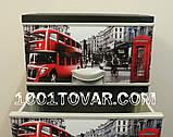"""Комод пластиковый, с рисунком """"Лондон"""" (London), 4 ящика, фото 2"""