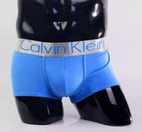 Трусы мужские боксеры хлопок Calvin Klein Steel, размер XL (50-52), голубые, 03262