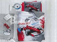 Комплект постельного белья подростковый гоночная тачка полуторный