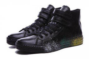 Кеды мужские Converse All Star Black Leather Paint