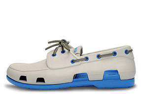 Мужские  мокасины Crocs Beach Line Boat Shoe Grey Blue