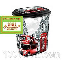 "Корзина для белья из пластика с рисунком ""Лондон"" (London). Элиф (Elif), Турция"