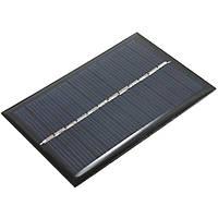 6 штук 6V 100mA 0.6W Поликристаллическая мини-эпоксидная смола Солнечная Панельная фотоэлектрическая панель