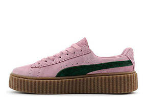 Женские кроссовки Rihanna x PUMA Creeper (Pink Green)
