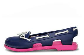 Женские мокасины Crocs Beach Line Boat Shoe Purple Pink