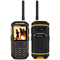 JEASUNG X6 IP68 2.4 дюймов 2500mAh UHF Walkie Talkie Torch Bluetooth Dual SIM Rugged Водонепроницаемы Телефон