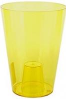 Кашпо Лілія 128 жовтий прозорий, пластик