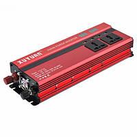 XUYUAN 2000W Авто LED Преобразователь силового инвертора DC 24V в AC 220V 4 Электронные порты USB