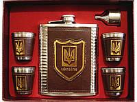 F5-89 Подарочный набор с флягой, Набор с гербом Украины, Фляга для алкоголя, Набор патриота фляжка