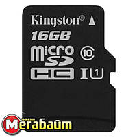 Карта памяти MicroSDHC 16GB UHS-I Class 10 Kingston Canvas Select (SDCS/16GBSP)