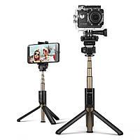 BlitzWolf® BW-BS3 Спортивный разносторонний 3 в 1 Bluetooth Штатив Моноподы и пульты для селфи Селфи-палка как для спорта камера. так и для смартфона