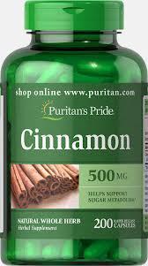 Puritans Pride Cinnamon 500 mg 200 caps